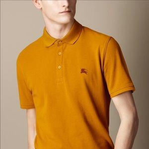 {Burberry Brit} Gold Freesia Wheeler Polo T-shirt